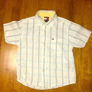 Tommy Hilfiger Boys Short Sleeve Button Down Shirt